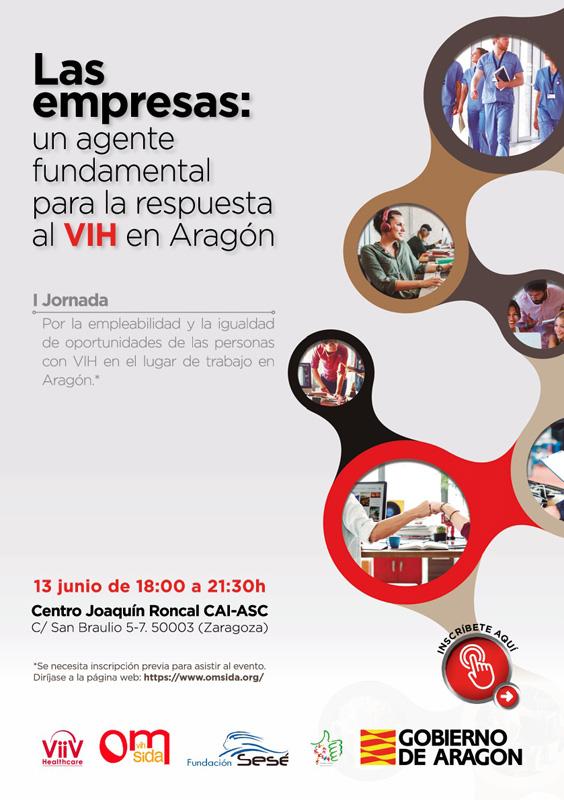 Cartel I Jornada Las Empresas: Un agente fundamental para la respuesta al VIH en Aragón