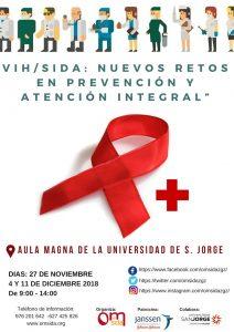 Cartel Formación en VIH en Universidad San Jorge