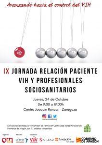 Cartel IX Jornada Relaicón Paciente VIH y Profesionales Socio Sanitarios2019