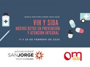Cartel Curso Formación VIH Universidad San Jorge