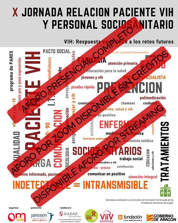 Aforo X Jornada Relación Paciente VIH y Personal Sociosanitario