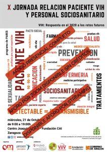 Cartel Aforo X Jornada Relación Paciente VIH y Personal Sociosanitario