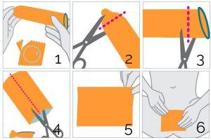 Cómo hacer una barrera de látex con un condón