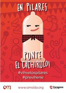 Cartel Pilar 21 No fiestas no oficial